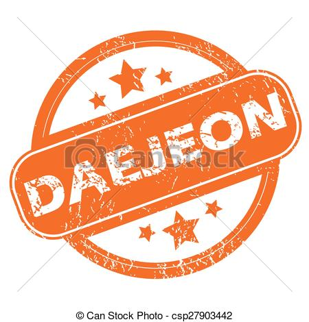 EPS Vector of Daejeon round stamp.