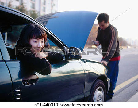 Stock Photography of Car trouble. Daejeon, South Korea n91.