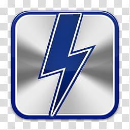 Quadrat icons, daemon tools, blue and gray lightning symbol.