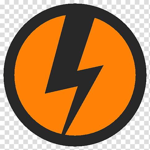 FlatFiles DAEMON Tools iso, orange and black icon.