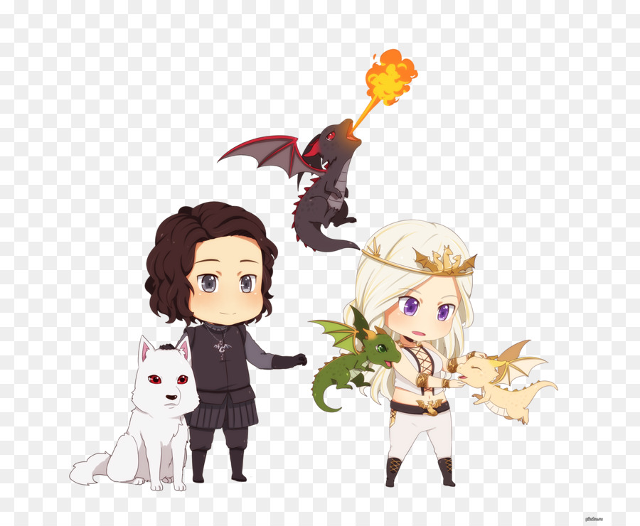 Daenerys Targaryen Jon Snow A Song of Ice and Fire Rhaegal.