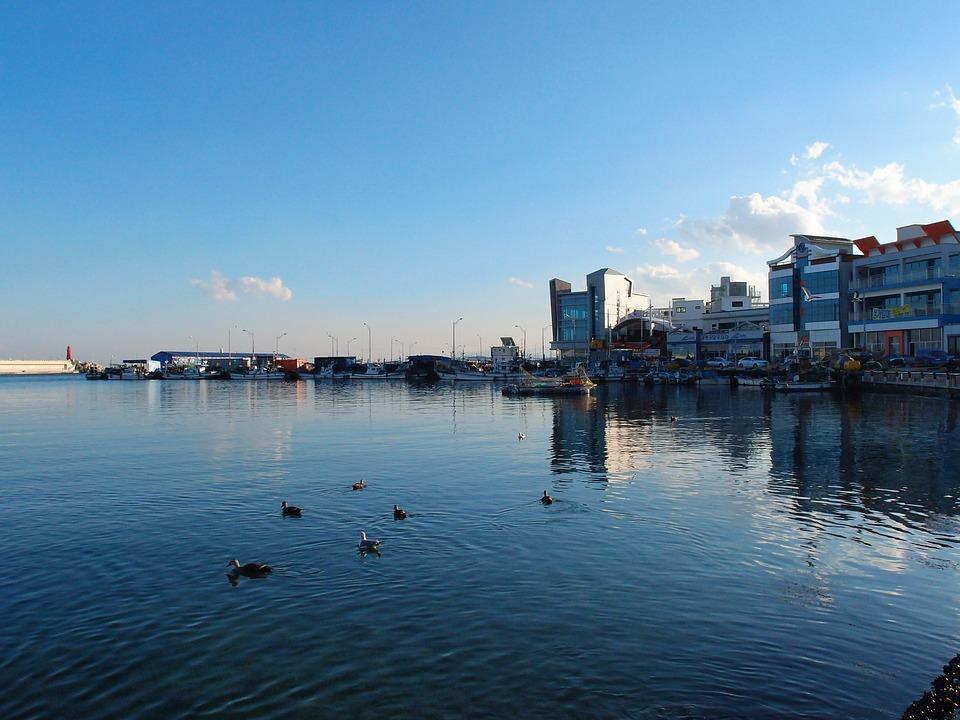 Free photo: Sea, Sky, Gangwon Do, Sokcho.