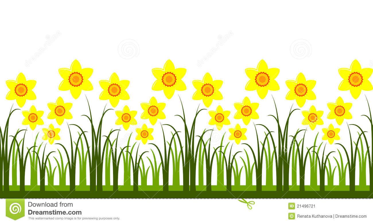 Daffodil border clipart 4 » Clipart Station.