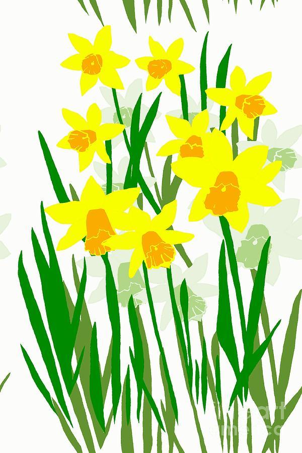 Daffodils Drawing.
