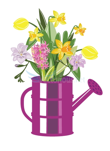 Tulips And Daffodils Clipart.