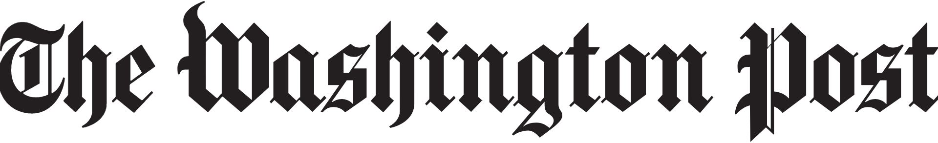 Washington Post logo font?.