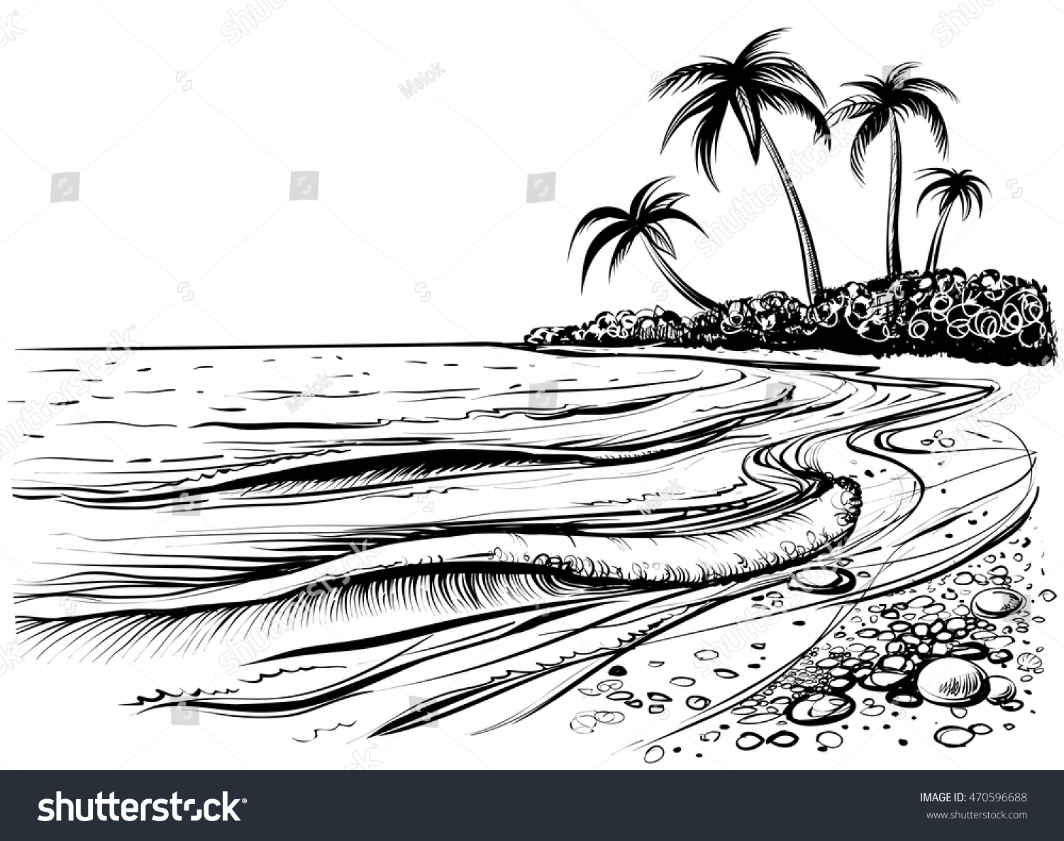 1389 Waves free clipart.