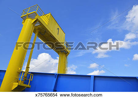 Stock Photo of Car Ramp on Ferryboat x75765654.