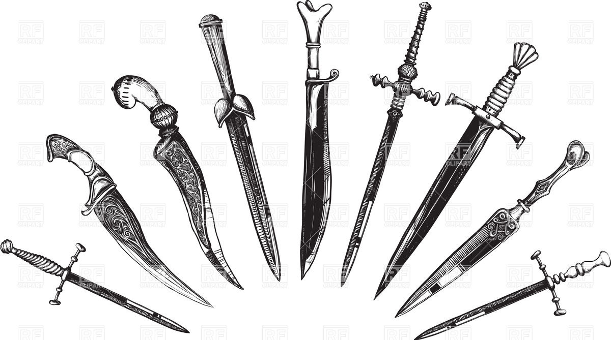 Daggers And Swords Clipart.