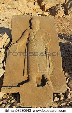 "Stock Photo of ""Relief, western terrace, Mount Nemrut, Nemrut Dagi."