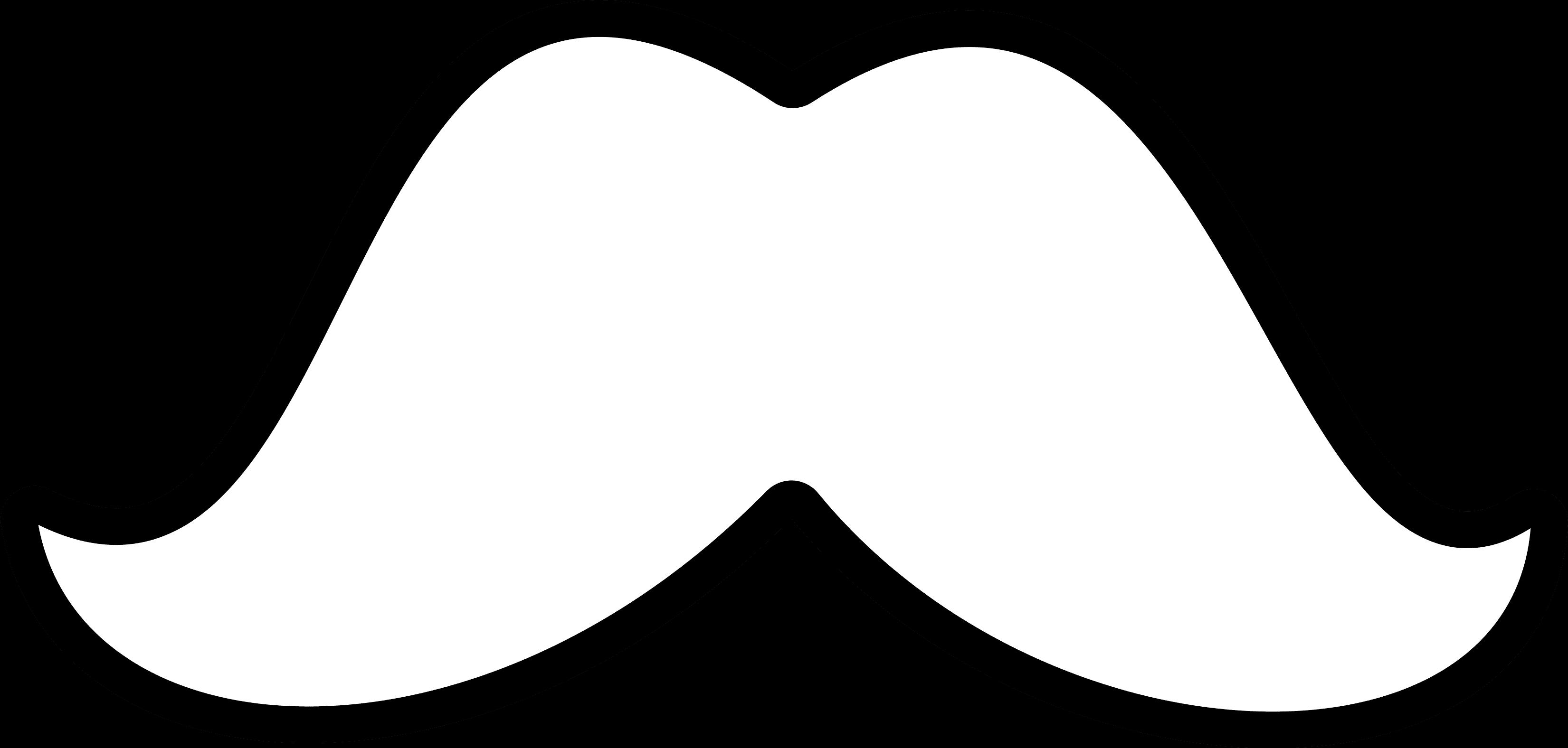 White Mustache Clip Art Free.