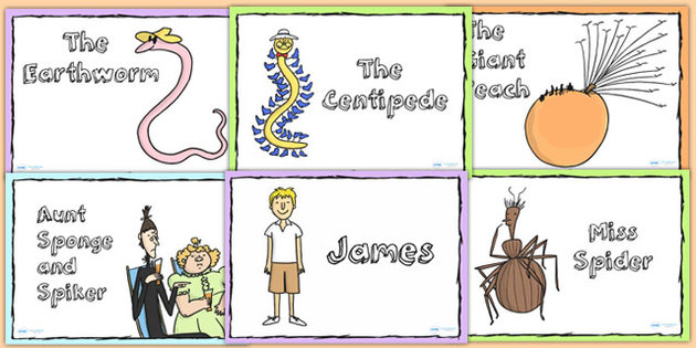 James And The Giant Peach Character Cards Roald Dahl Stories.