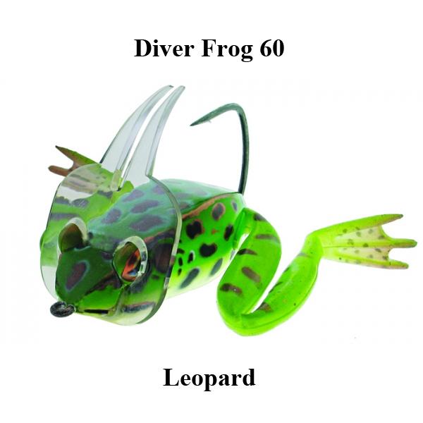 River2Sea Dahlberg Diver Frog 60 Floating Diving Bass Bait.