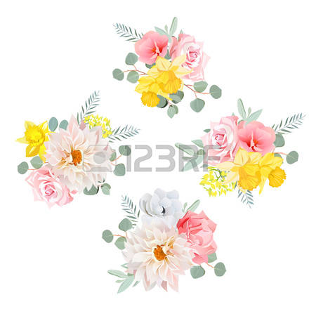 408 Yellow Dahlia Stock Vector Illustration And Royalty Free.