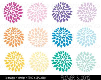 flower clip art dahlia.