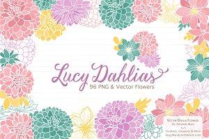 Dahlia clip art Photos, Graphics, Fonts, Themes, Templates.