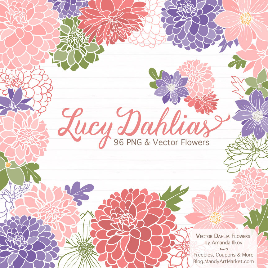 Dahlia Clipart in Wildflowers.