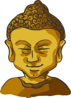 Buddha graphics, vector Buddha.