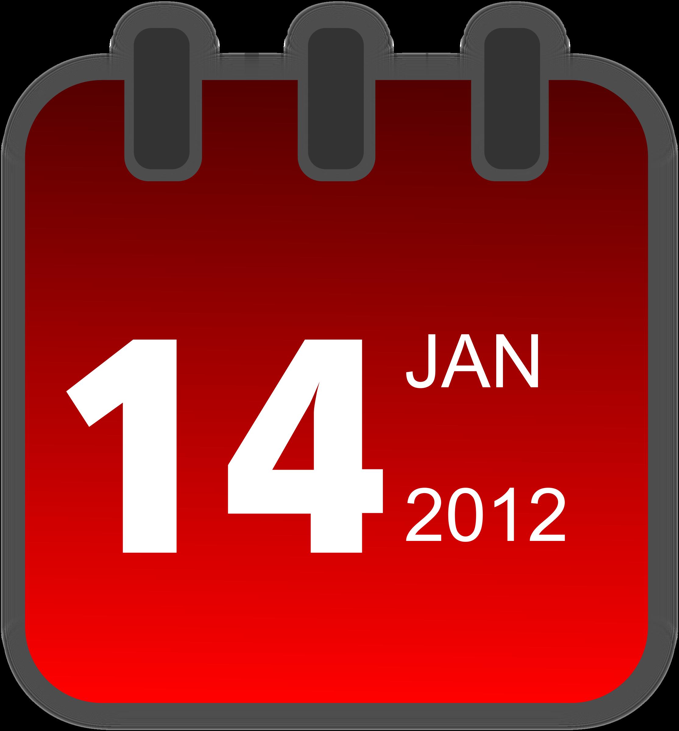 Daily calendar clipart.