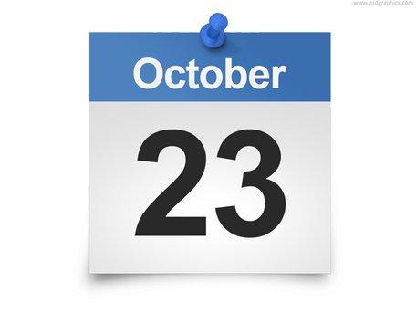 Daily calendar PSD template, Vector Graphic.