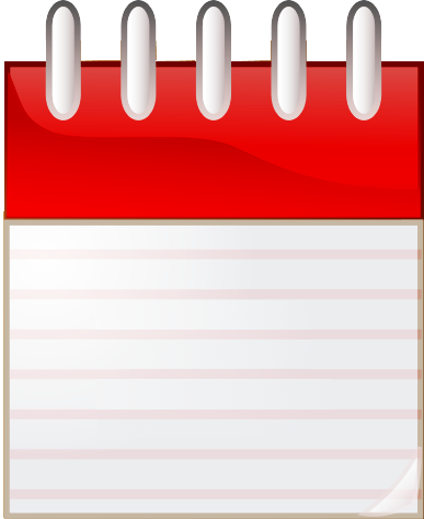 daily calendar page clipart - Clipground