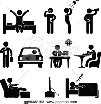 Clipart daily life.