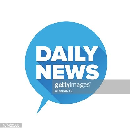 Daily news label vector Clipart Image.
