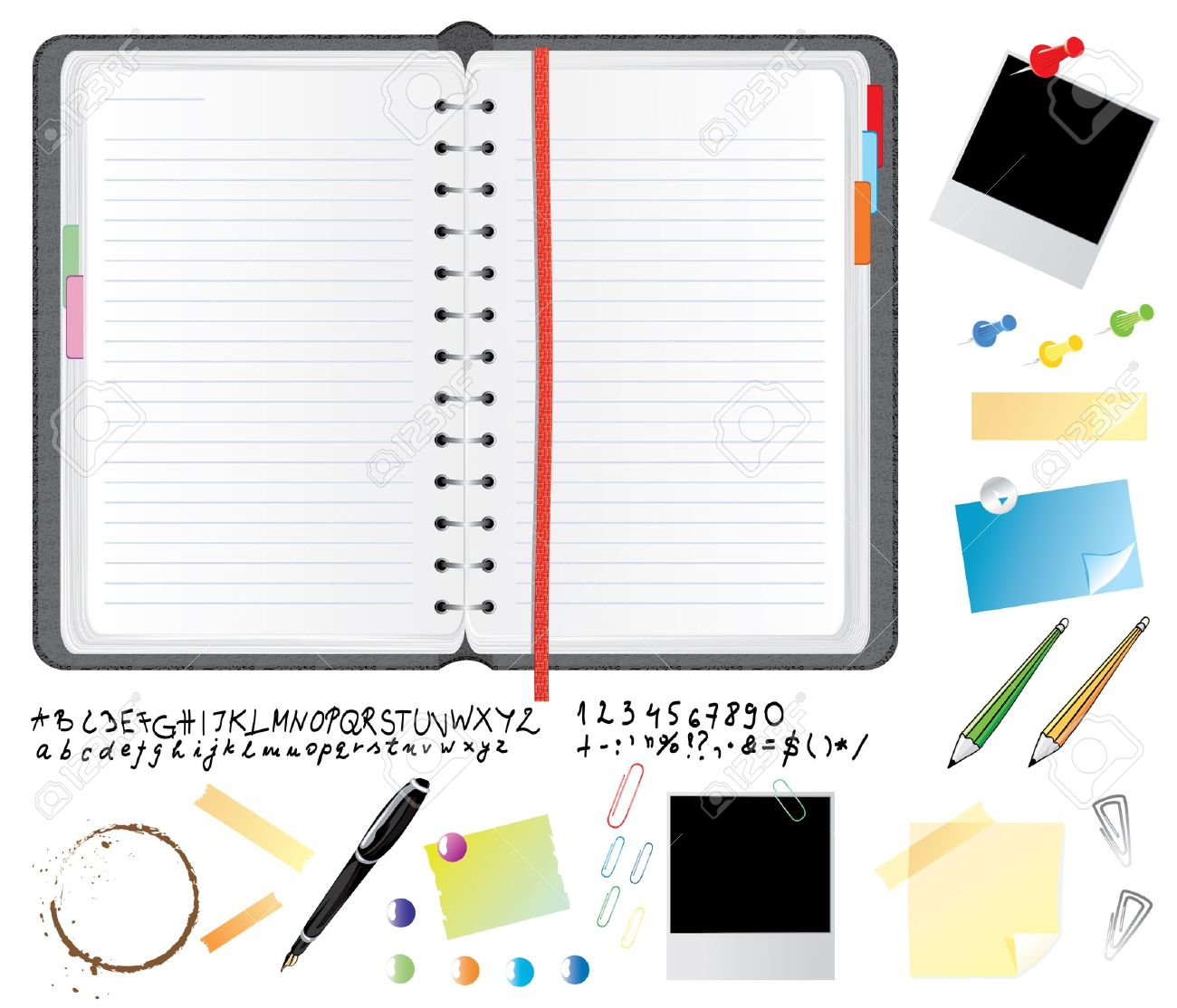 Daily planner clipart.