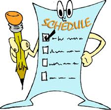 Daily School Schedule Clipart.