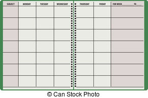 Daily planner clipart 6 » Clipart Station.