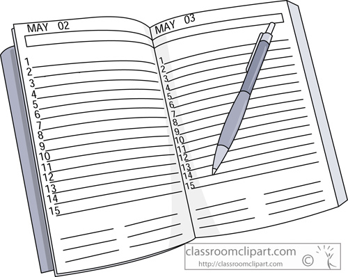 Daily planner clipart 1 » Clipart Station.