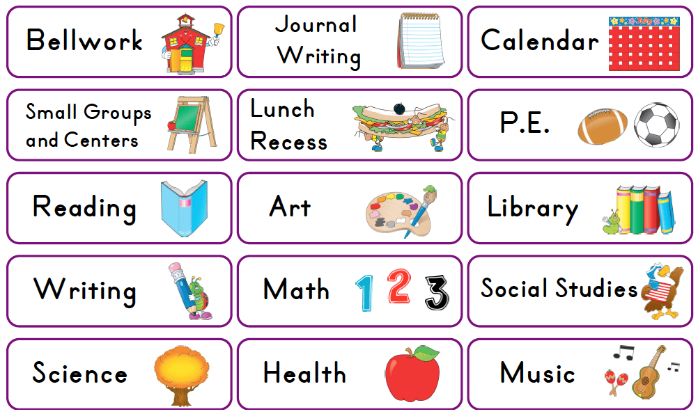 Preschool daily schedule clipart 3 » Clipart Portal.