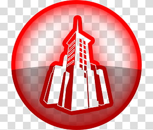 Icon Neoni Red, dailymotion transparent background PNG.