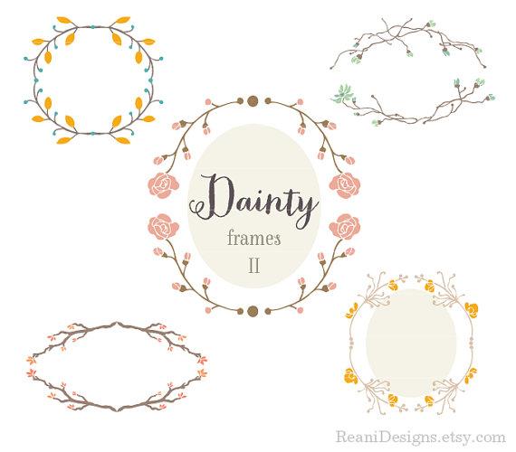 Dainty Clip Art Frames This Busy Life #1cSUhj.