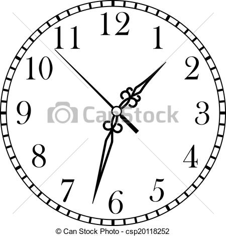 Clipart Vector of Dainty clock dial face.