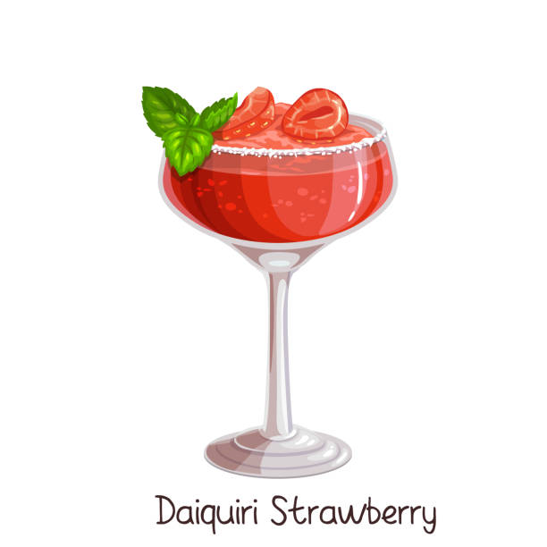 Best Strawberry Daiquiri Illustrations, Royalty.