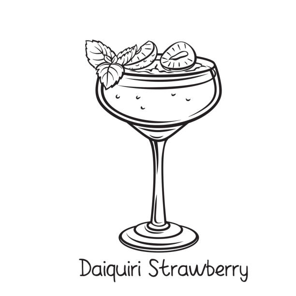 Best Strawberry Daiquiri Illustrations, Royalty.
