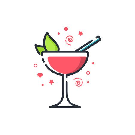 299 Strawberry Daiquiri Stock Vector Illustration And Royalty Free.