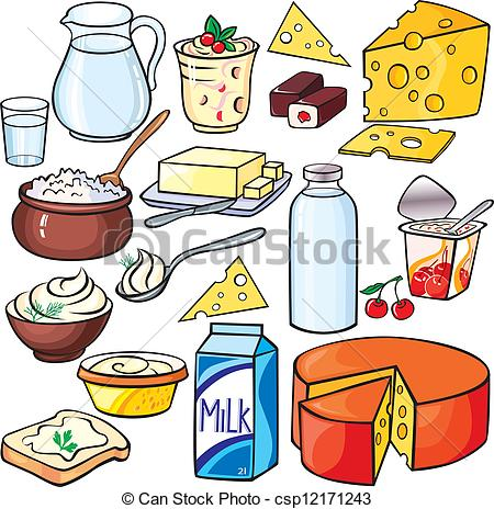 Milk and Dairy Clip Art.