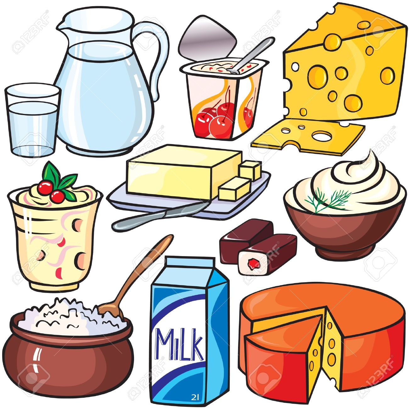 dairy milk clipart clip food yogurt cliparts sour storage cheese many clipground صور cartoon foods