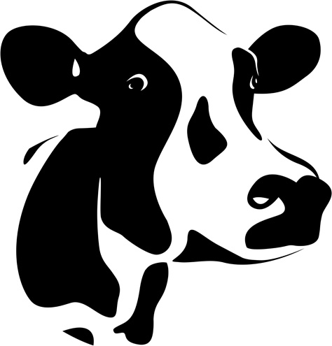 cow clipart vector cute simple outline - Clipground