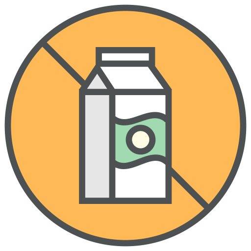 Dairy, free, allergens Icon Free of Allergy Info Cosmetic & Food Icons.