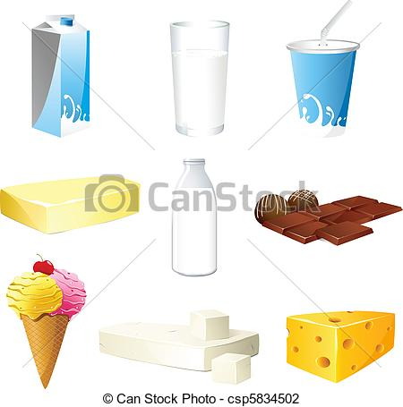 Vector Illustration of Dairy product.