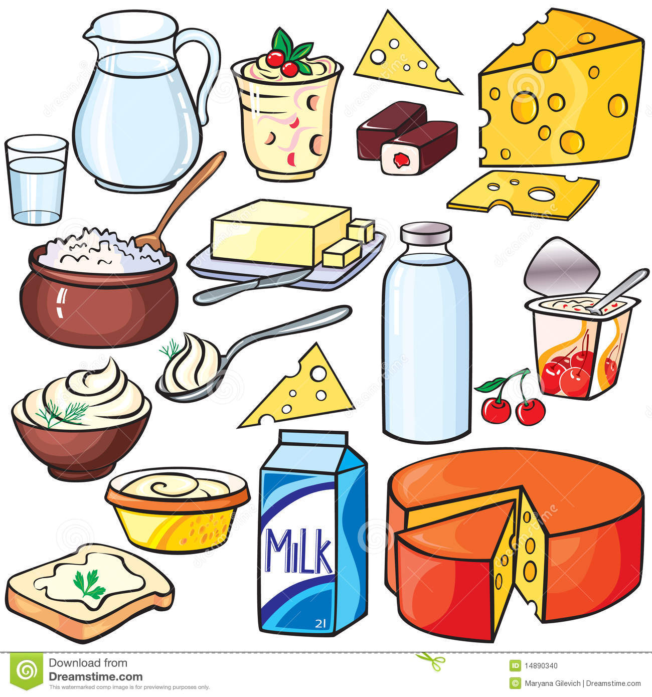 Dairy Products Clipart.