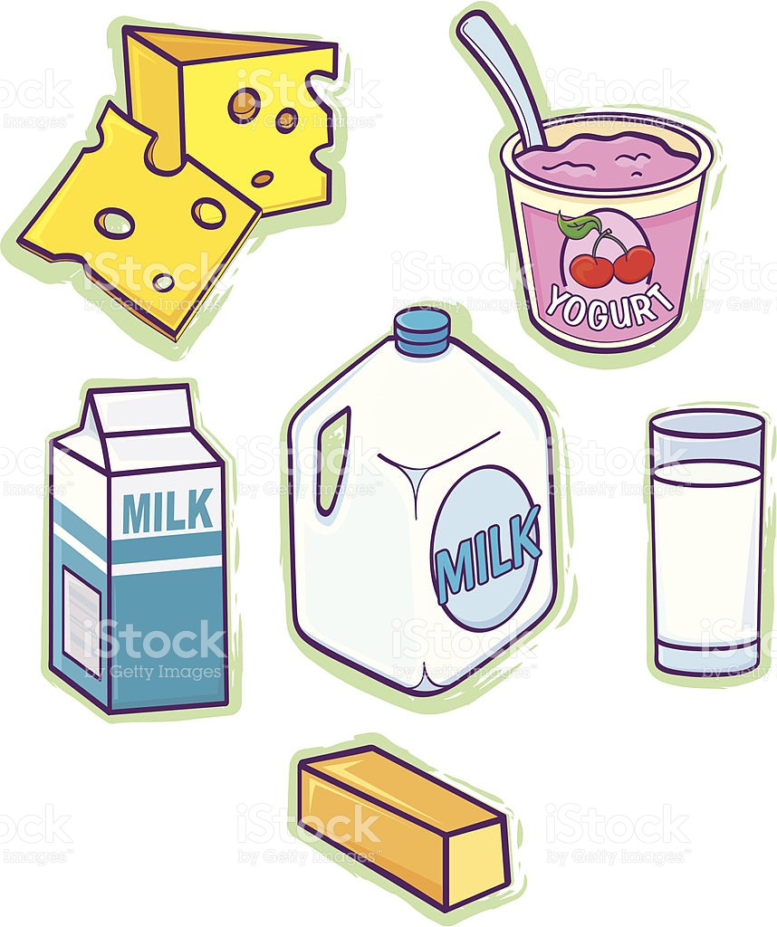Dairy Products stock vector art 165048909.