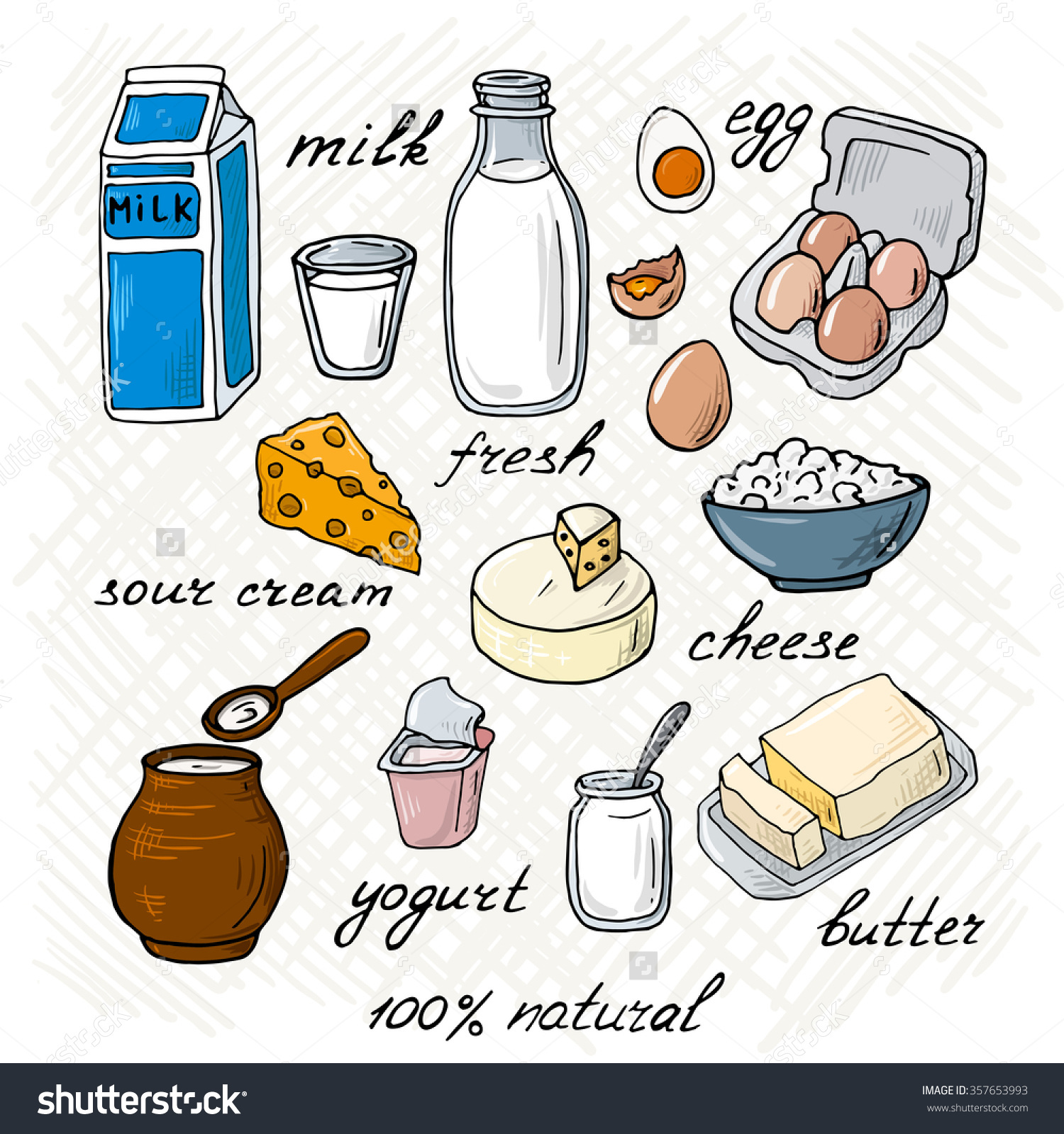 Milk products clipart - Clipground