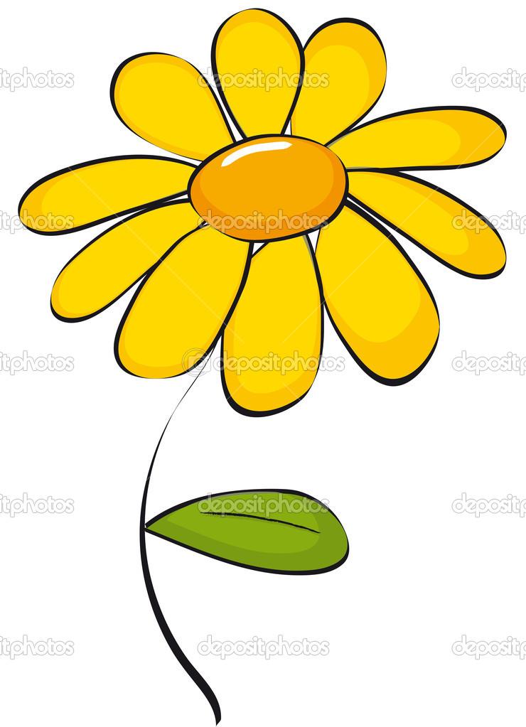 Daisy clip art — Stock Vector © Marcinska #8351443.