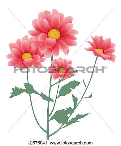 Clipart of daisy flower k2676041.