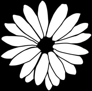 Daisy Outline Clip Art at Clker.com.