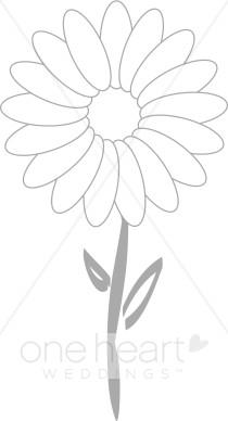 Daisy Outline Clipart.